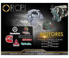 Refacciones y motores para grúas industriales marca Cummins, Mercedes Benz. Detroit