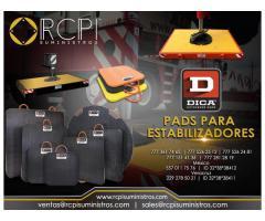 Refacciones y pads para estabilizadores marca Dica