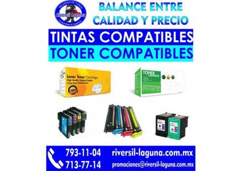 TONER Y TINTAS COMPATIBLES