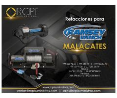 Refacciones para winchs Ramsey para grúas industriales