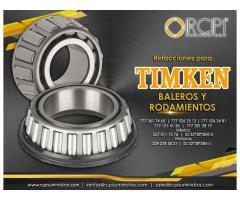Refacciones y baleros Timken para grúas industriales