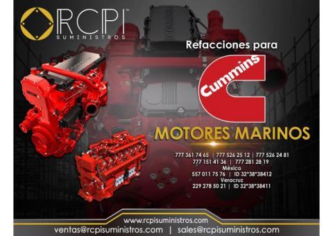 Venta de refacciones para motores marinos marca Cummins