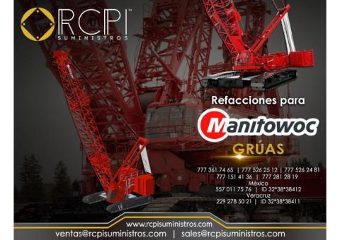 Refacciones para grúas industriales marca Manitowoc