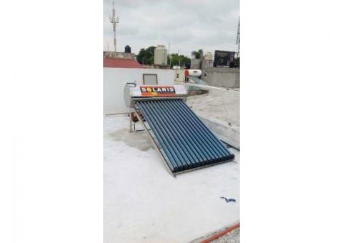 calentador solar solaris hecho en acero inoxidable