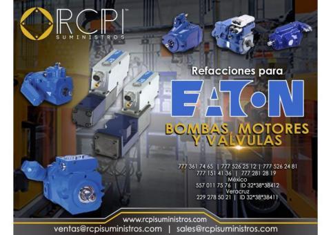 Válvulas, motores y bombas Eaton para grúas industriales