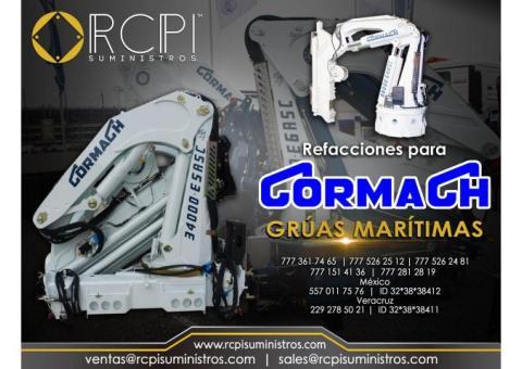 Refacciones para grúas marítimas marca Cormach