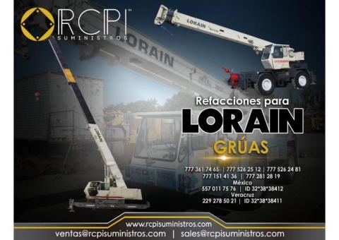 Venta de refacciones para grúas Lorain