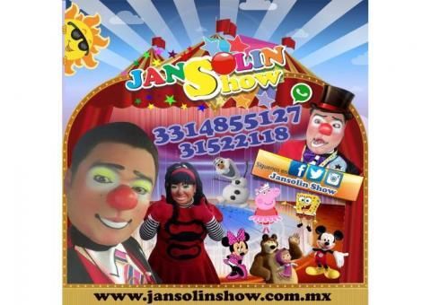 El show de los payasos del momento Jansolin y Jassiel