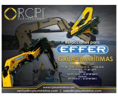 Venta de refacciones para grúas marítimas Effer