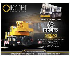 Refacciones para grúas industriales Krupp