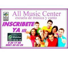 Escuela de música y canto - All Music Center