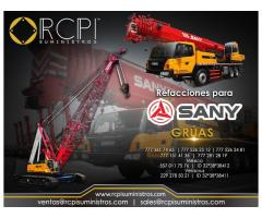 Venta de componentes para grúas Sany