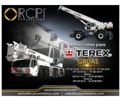 Venta de componentes para grúas Terex