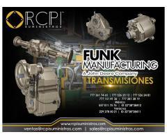 Venta de transmisiones Funk Manufacturing para grúas industriales