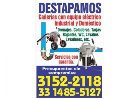 Servicio de destapa caños en Guadalajara