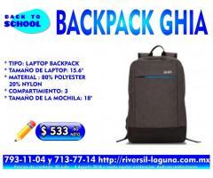 BACK PACK GHIA PARA EL REGRESO A CLASES