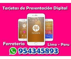 tarjetas de presentación digital para Ferreteria