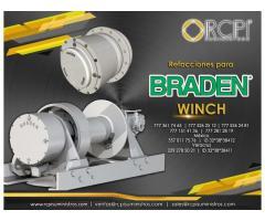 Refacciones para winchs Braden para grúas industriales