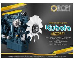 Refacciones para motores Kubota
