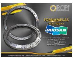 Venta de refacciones y tornamesas para equipos Doosan