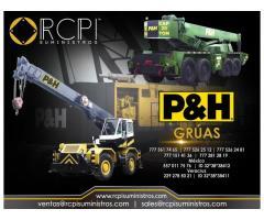 Venta de componentes para grúas industriales P&H