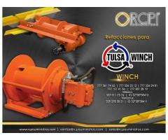 Refacciones para malacates Tulsa winch para grúas industriales
