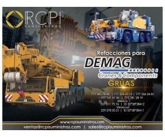 Venta de componentes para grúas industriales marca Demag