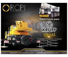 Venta de componentes para grúas industriales Krupp