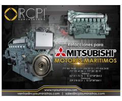 Venta de componentes para motores marinos marca Mitsubishi