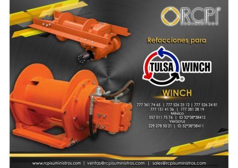 refacciones de winch Tulsa para grúas industriales