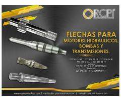 Flechas para bombas y transmisiones para grúas industriales