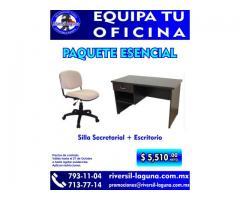 PAQUETE ESENCIAL DE MOBILIARIO PARA OFICINA