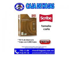 CAJA DE HOJAS SCRIBE C/5000