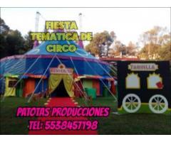 Renta de Carpas de Circo y funciones PATOTAS VIP