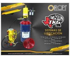 Sistema de lubricación TKG para equipo portuario