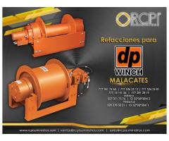 Refacciones para malacates DP winch