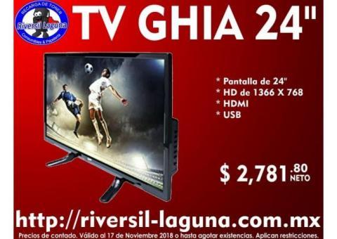 TV GHIA LED DE 24
