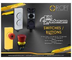 Switch y botones para grúas industriales
