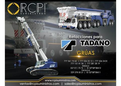 Refacciones para grúa industrial Tadano