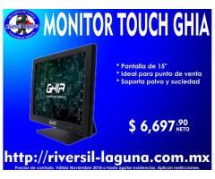 MONITOR TOUCH GHIA IDEAL PARA PUNTO DE VENTA