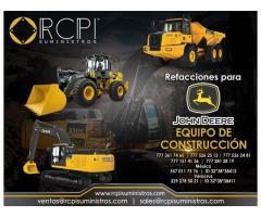 Refacciones para equipo de construcción John Deere