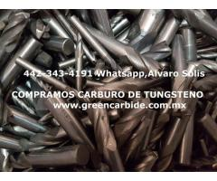 compro scrap de CARBURO de TUNGSTENO en TIJUANA
