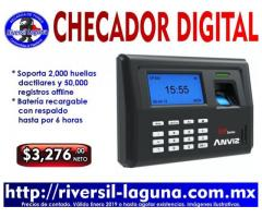 RELOJ CHECADO BIOMETRICO ANVIZ