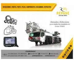 Refacciones manuales y grúas industriales Terex
