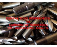 COMPRAMOS DESPERDICIO DE CARBURO DE TUNGSTENO EN NAUCALPAN
