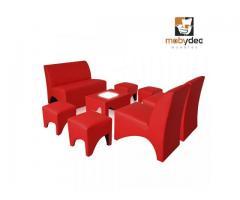 Sala  lounge vintage sillones y muebles lounge para eventos fiestas y salones