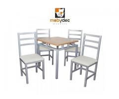 juego restaurantero mesas y sillas mobiliario para cafeterias