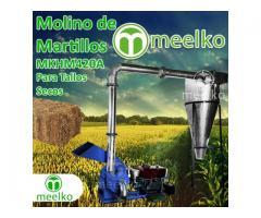 Molino triturador (Tallos Secos) de biomasa a martillo diesel hasta 545 kg hora - MKH420A