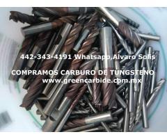COMPRA CARBURO DE TUNGSTENO SCRAP EN CIUDAD DE MEXICO