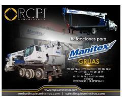 Refacciones y partes para grúas industriales Manitex